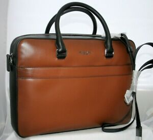 Michael Kors Harrison Briefcase Luggage Burnished Leather Bag $498