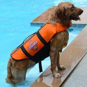 Dog Life Jackets Pet Floatation Safety Vest Adjustable Ripstop Swimsuit for Pool