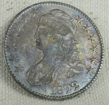1822 US Capped Bust Half Dollar 50 Cent Silver Coin * Great Toning *