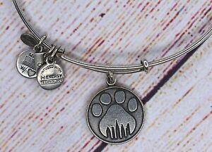 Alex and Ani Paw Prints Charm Silver Bracelet 2013