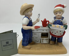 Denim Days~�Cookies For Santa�~Christmas~Porcel ain~W/Tag~2006 Retired~Homco~Euc