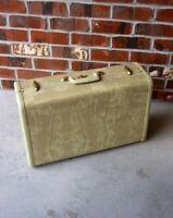 """Vintage Samsonite Shwayder Bros Inc. Marble Beige 21"""" 1950 Luggage Hard Suitcase"""