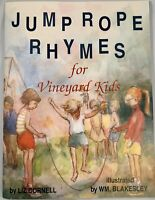 JUMP ROPE RHYMES FOR VINEYARD KIDS by Liz Cornell SIGNED New! 1993 Paperback
