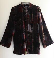 Citron Santa Monica -Sz S Unbelievable Velvet Asian Printed Rich Jacket Art-Wear