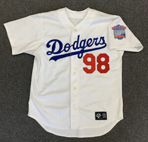 1998 Los Angeles Dodgers Game Used Home Baseball Jersey w/ 40th Anniv Patch