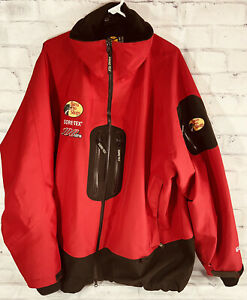 BPS BASS PRO SHOPS Gore-Tex 100 MPH Fishing Rain Gear Red & Black Jacket XL