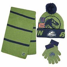 Jurassic Park Dinosaur T-Rex Winter Hat Glove & Scarf Set with Gift Box for 5