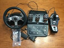 Logitech G25 Force Feedback Steering Wheel, Pedals, Shifter for PC, PS2, PS3