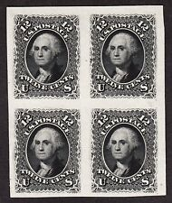 US 69P3 12c Washington India Proof Block of 4 SHOWPIECE! XF-GEM SCV $300