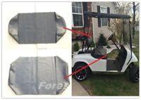 EZGO TXT Seat Cover Set for Front Bench Seat & Backrest,All Black Vinyl