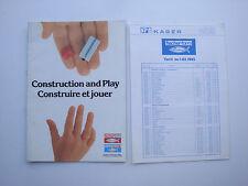 Catalogue ancien jouets jeux de construction Fischertechnik Fisherform 1982