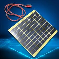 12V 5W Solar Panel Fit Car Battery Irrigation Trickle Charger Backpack Power BA