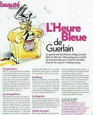 Publicité Advertising 079  2011  Guerlain histoire parfum Heure Bleue