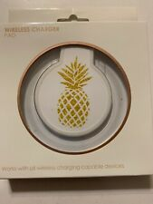 Wireless Phone Charger Pad - Pineapple, Works With All Wireless Charging Phones