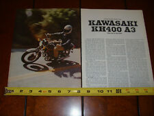 1976 KAWASAKI KH400 A3 2 STROKE TRIPLE - ORIGINAL ARTICLE