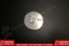 Ford Mustang Flat Chrome Decal 56MM