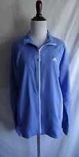Women's L Light Purple Adidas Windbreaker Jacket Track Warmup Running Full Zip
