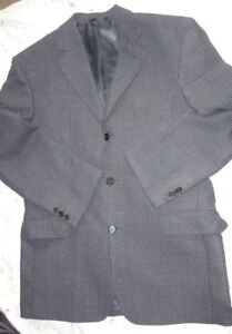 Men's Vintage Jaeger 100% Pure Wool Casual Checked Jacket UK Size 42S