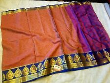 Pure Kora Muslin Silk Saree with rich border and blouse piece