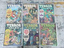 LOT OF 6 TERROR TALES Eerie Publications COMIC Magazine RARE HORROR
