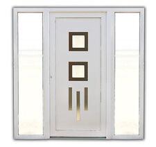 Haustür Modell °°Sophie°° mit 2 x Seitenteilen  Kunststoff in weiß