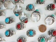 15pcs  style jewelry turquoise stone costume fashion rings