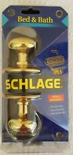New in Package Schlage Brass Bed and Bath Residential Door Knobs Locking System