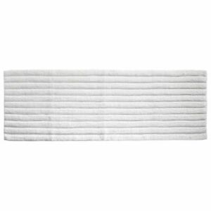 """mDesign Soft 100% Cotton X-Long Accent Rug Mat/Runner, Ribbed, 60"""" x 21"""" - White"""