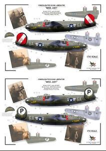 """[ FFSMC Productions] Decals 1/48 Consolidated B-24H Liberator """" Miss Judy"""