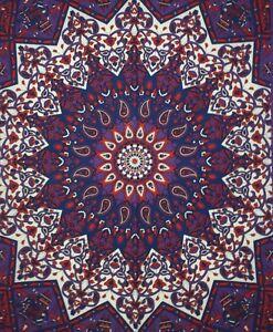 Tapestry Small Star Mandala Elephant Design Handmade Poster Wall Hanging Indian