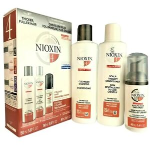 NIOXIN System #4 Cleanser Shampoo Scalp Therapy Conditioner + Treatment 3 PC SET