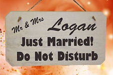 PERSONALISED Wedding Just Married Do Not Disturb Wooden Wedding Mr & Mrs Sign