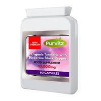Turmeric and Black Pepper Capsules 100% Natural Tumeri STONG 10,000MG Capsules