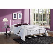 Footboard Headboard Furniture Full Size Bed Frame Metal Bedroom White New