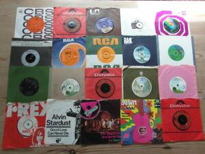 "JOB LOT COLLECTION OF 1970's 7"" VINYL SINGLES x 20 VG-EX"