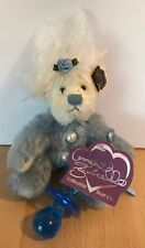 Annette Funicello Collectible Bear Bluey Chewy Blue 100% Mohair Plush Limited Ed