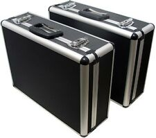 Brand New 2 x Quality Aluminium Tools /Equipment/Brief Case,Box,Large Size Black