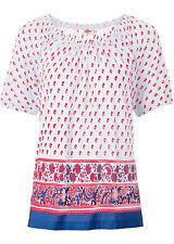 Modisches Shirt mit Carmen-Ausschnitt  Gr.36/38