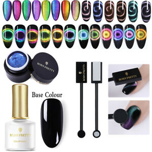 BORN PRETTY 5/6ml UV Gel Nail Soak Off 9D Cat Eye Nail Polish Magnetic Set Kit