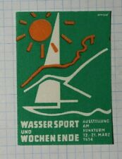 Water Sports & Weekend At The Radio Tower Exhibition Sailboat Expo Poster Stamp