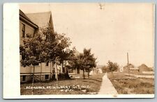 Hilbert Junction Wisconsin~Wooden Sidewalks Along Residential Street~RPPC 1913