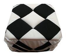 Lot de 6 Galette Dessus de chaise, damier noir et blanc
