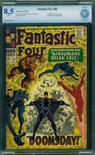 Tu Four # 59 US Marvel 1967 Dr Doom Surfeur Inhumans App CBCS 8.5 VFN +