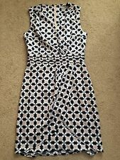 H&M Trend Ladies Navy Pink Blue Blogger Print Dress Wedding Party UK 8 US4 EUR34