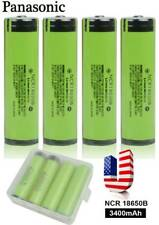 【USA】4Pcs Panasonic Protected NCR18650B 3400mAh 3.7V Rechargeable Li-ion Battery