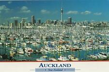 AUCKLAND NEW ZEALAND POSTCARD - HARBOURSIDE VIEW of YACHTS in CITY of SAILS NZ