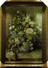 OriginalÖlgemälde, Ölbild Blumenstilleben, Neu mit Rahmen80x110 cm