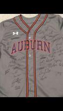 2019 Auburn Tigers Team Signed Baseball Jersey CWS Omaha