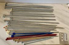 Lot Of 35 Knitting Needles Boye Aero Metal Plastic