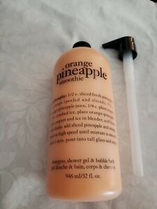 Philosophy ORANGE PINEAPPLE SMOOTHIE shampoo bubble bath and shower gel 32OZ